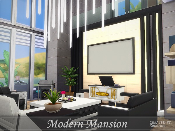 Sims 4 Modern Living Room Ideas No Cc