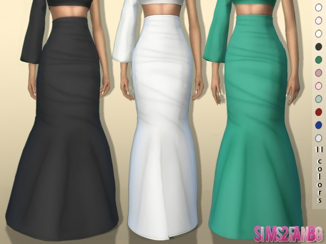 Sims 4 361   3D High Long Skirt by sims2fanbg at TSR