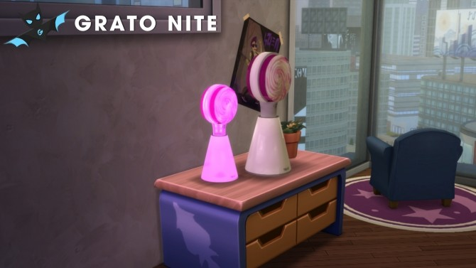 Sims 4 Twices Standing Candy Bong Decoration Pack by GratoNite at Mod The Sims