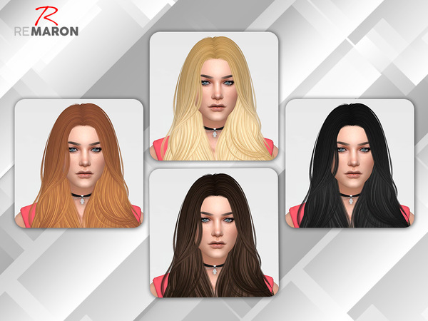 Sims 4 Bombshell Hair Retexture by remaron at TSR