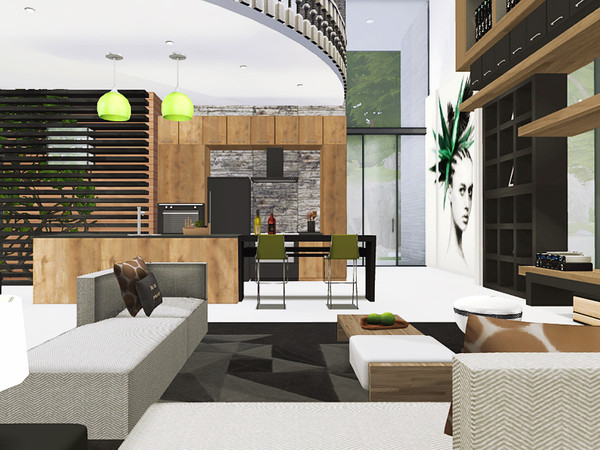 Sims 4 Nova house by Rirann at TSR