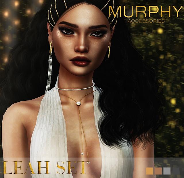 Sims 4 Leah Set earrings and necklace at MURPHY