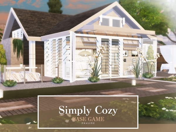 Simply Cozy house by Pralinesims at TSR image 555 Sims 4 Updates
