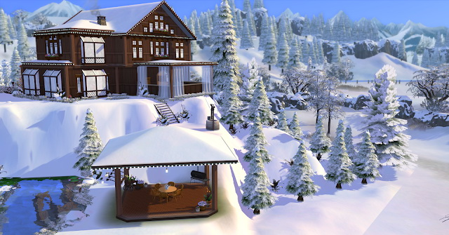 Sims 4 Winter Christmas Chalet at Lily Sims