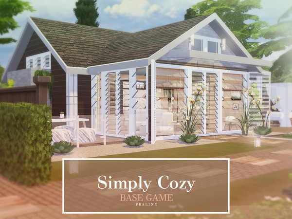 Simply Cozy house by Pralinesims at TSR image 566 Sims 4 Updates
