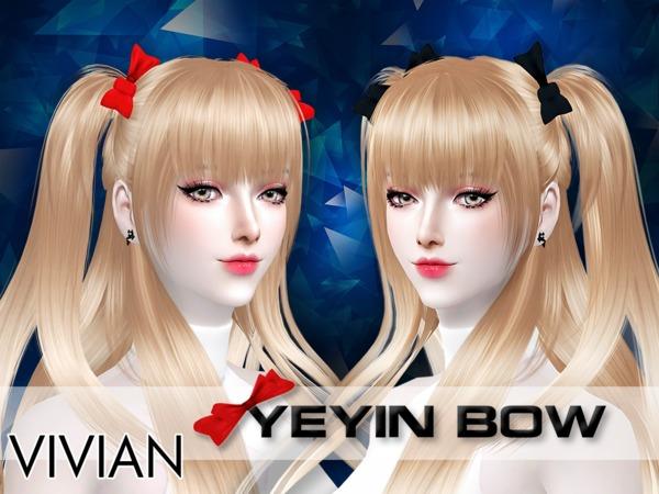 Sims 4 YeYin Bow by VivianDang at TSR