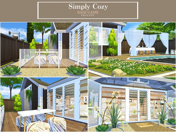 Simply Cozy house by Pralinesims at TSR image 576 Sims 4 Updates