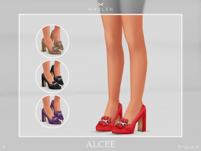 Sims 4 Madlen Alcee Shoes by MJ95 at TSR