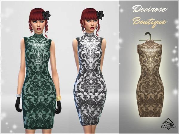 Sims 4 Holidays Pencil Dress by Devirose at TSR