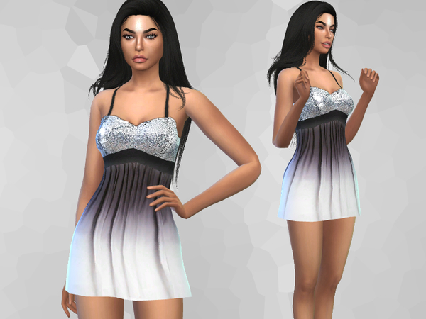 Sims 4 Cocktail Dress by Puresim at TSR
