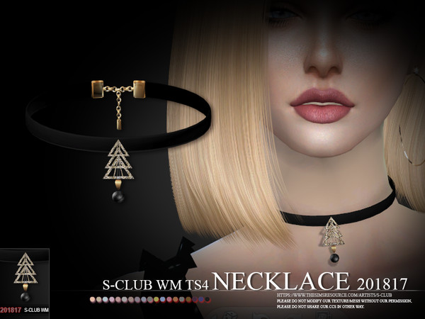 Sims 4 Necklace F 201817 by S Club WM at TSR