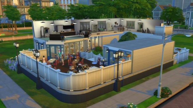 Sims 4 Meow caccino Fully Functional Cat Cafe by Mikkiness at Mod The Sims