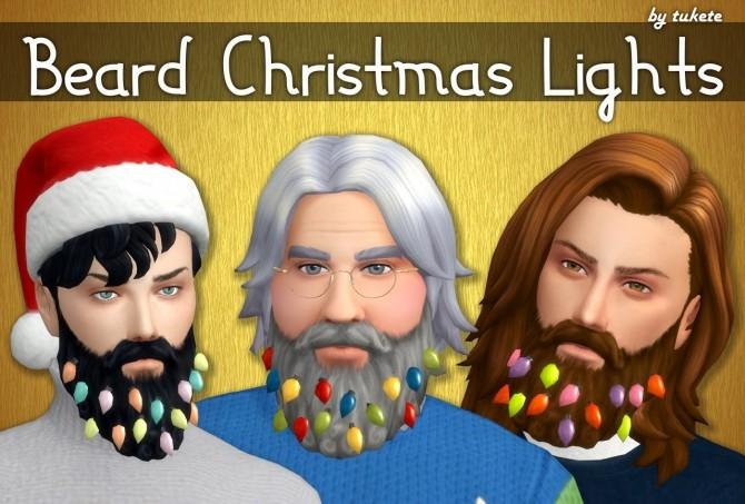 Sims 4 Beard Christmas Lights at Tukete
