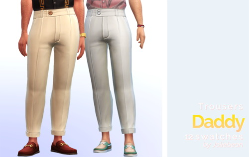 Sims 4 Trousers in 12 swatches at Joliebean