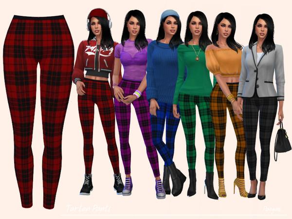 Sims 4 Tartan Pants by Paogae at TSR