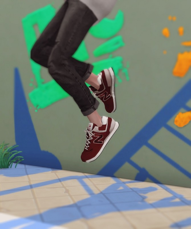 Sneakers 574 classic at Kiro image 613 670x801 Sims 4 Updates