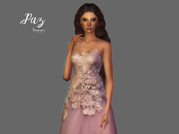 Sims 4 Paz gown by laupipi at TSR