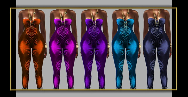 Sims 4 Velvet overalls at FusionStyle by Sviatlana