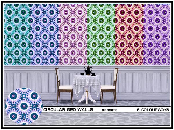 Circular Geo Walls by marcorse at TSR image 627 Sims 4 Updates