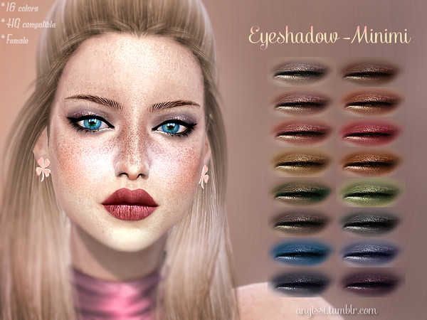 Sims 4 Minimi Eyeshadow by ANGISSI at TSR