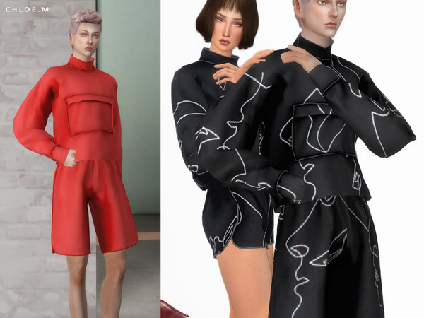 Sims 4 Sports Top male by ChloeMMM at TSR