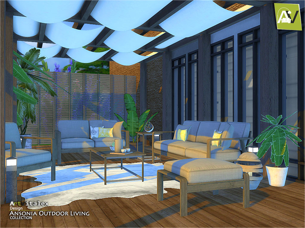 Ansonia Outdoor Living by ArtVitalex at TSR image 65 Sims 4 Updates