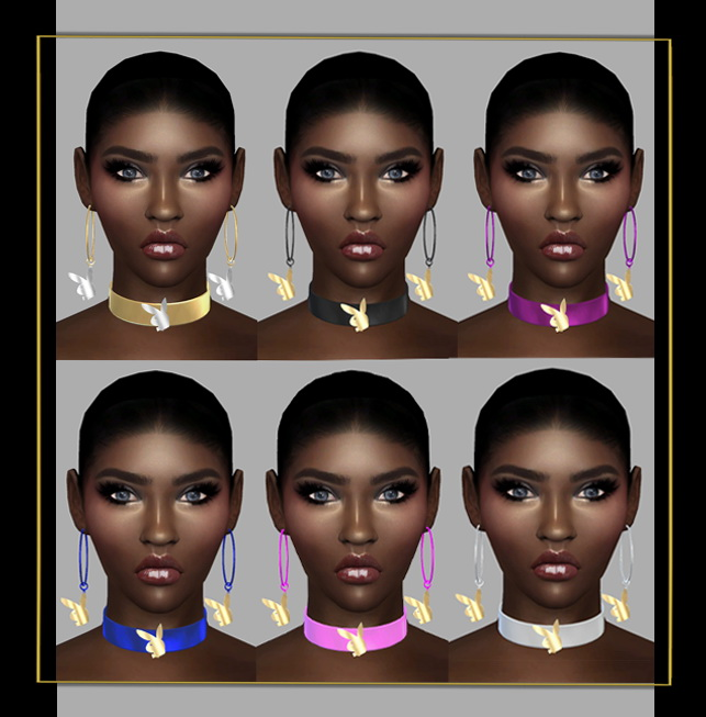 Sims 4 Choker & Earrings at FusionStyle by Sviatlana