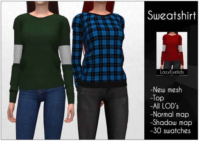 Sweatshirt at LazyEyelids image 652 670x477 Sims 4 Updates