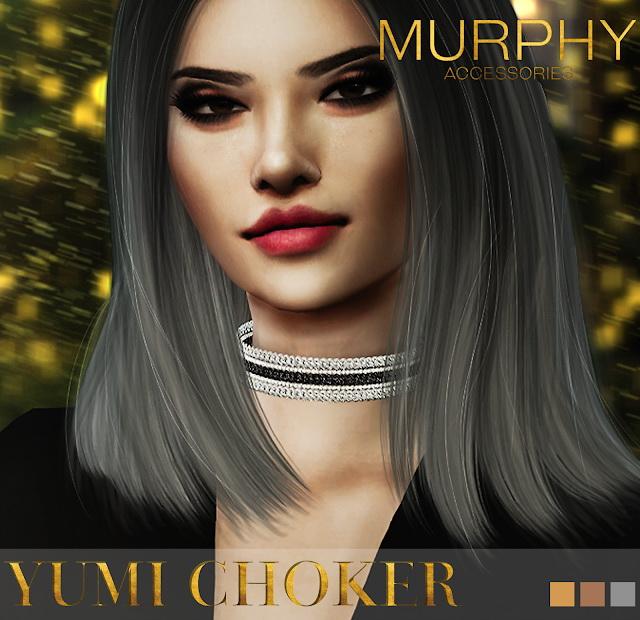 Sims 4 Yumi Choker by Victoria Kelmann at MURPHY