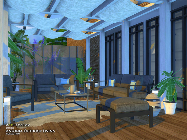 Ansonia Outdoor Living by ArtVitalex at TSR image 66 Sims 4 Updates