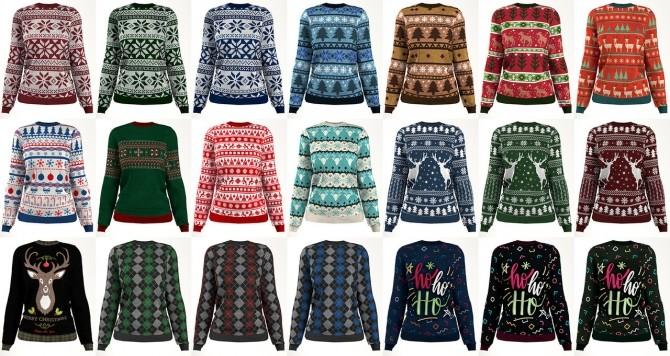Sims 4 Christmas sweater F at LazyEyelids