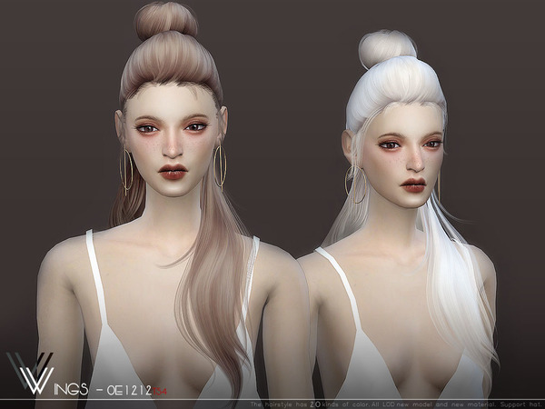WINGS OE1212 hair by wingssims at TSR image 667 Sims 4 Updates
