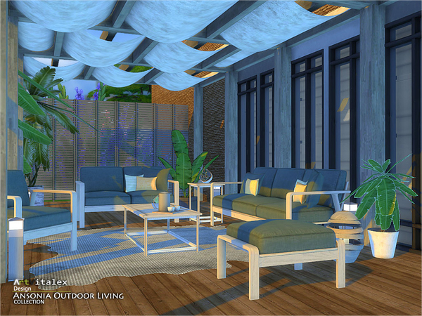 Sims 4 Ansonia Outdoor Living by ArtVitalex at TSR
