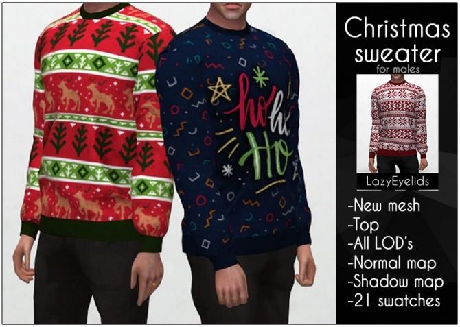 Sims 4 Christmas sweater M at LazyEyelids