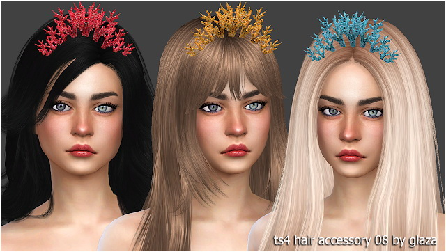 Hair accessory 08 at All by Glaza image 673 Sims 4 Updates