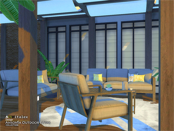 Ansonia Outdoor Living by ArtVitalex at TSR image 68 Sims 4 Updates
