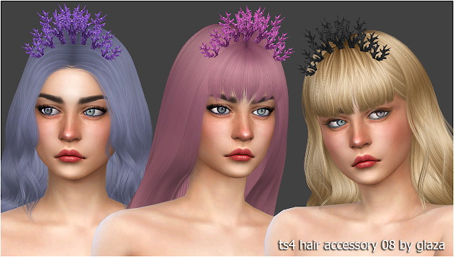 Hair accessory 08 at All by Glaza image 683 Sims 4 Updates