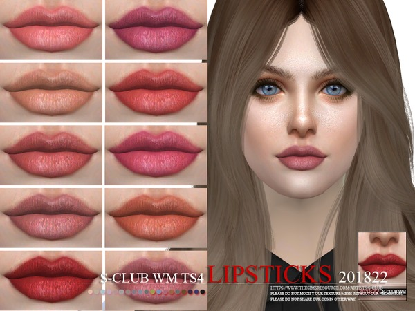 Sims 4 Lipstick 201822 by S Club WM at TSR