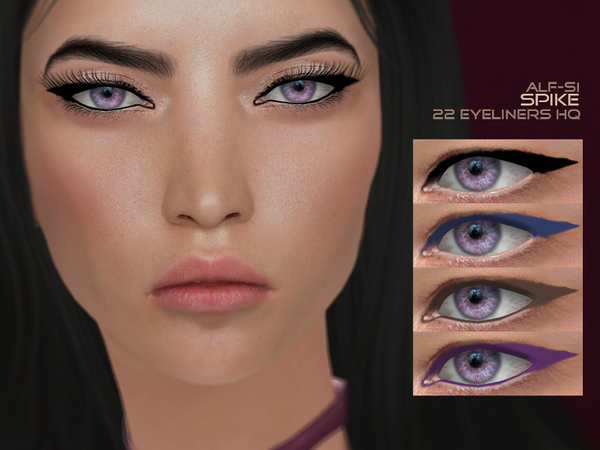 Spike Eyeliner 08 HQ by Alf si at TSR image 690 Sims 4 Updates
