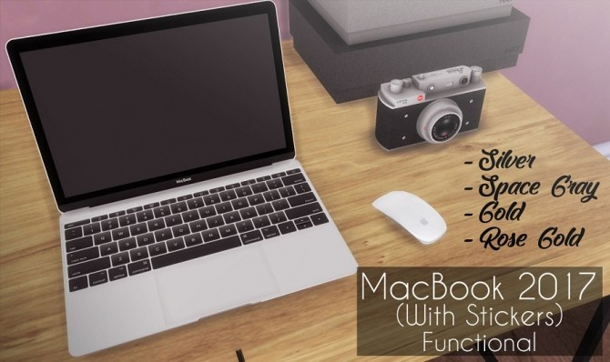 MacBook 2017 with stickers functional at Descargas Sims image 703 670x398 Sims 4 Updates