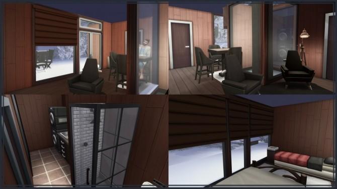Sims 4 Tiny Modern Log Cabin at GravySims