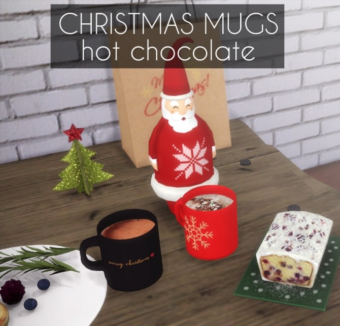 Sims 4 Christmas Mugs   Hot Chocolate at Descargas Sims