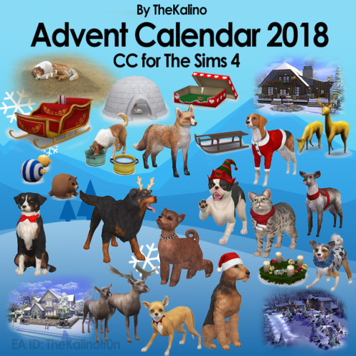 Sims 4 Complete Advent Calendar 2018 at Kalino