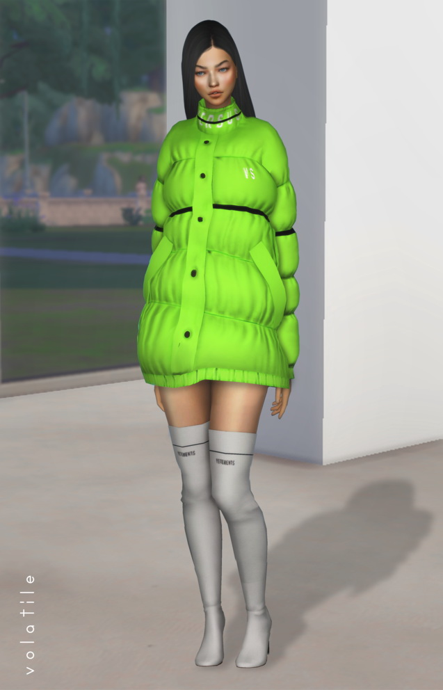 Puffer Coat at Volatile Sims image 7414 Sims 4 Updates