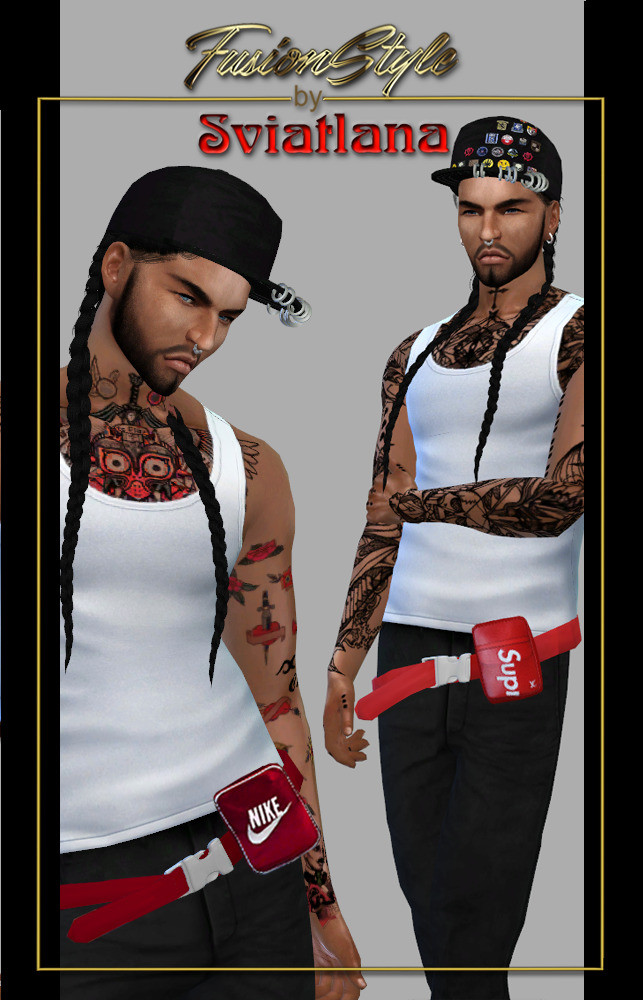 Bag on the belt & Caps for men at FusionStyle by Sviatlana image 753 643x1000 Sims 4 Updates