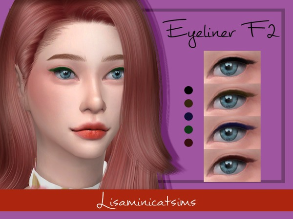 LMCS Eyeliner F2 by Lisaminicatsims at TSR image 76 Sims 4 Updates