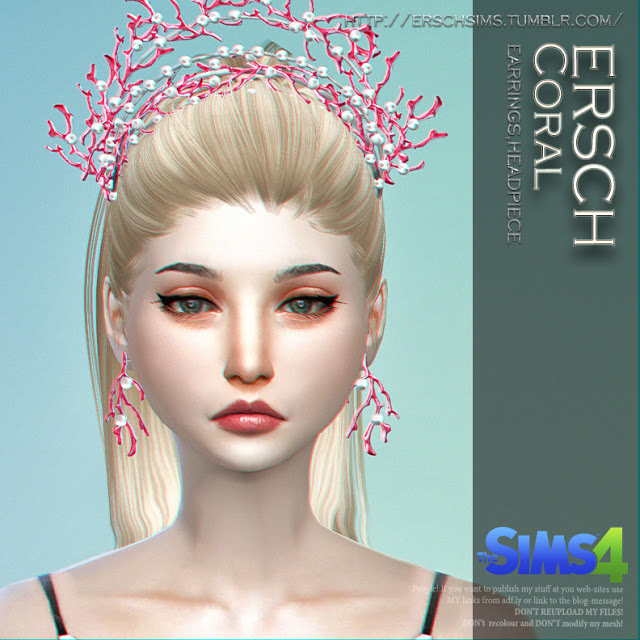 Sims 4 Coral Jewelry at ErSch Sims