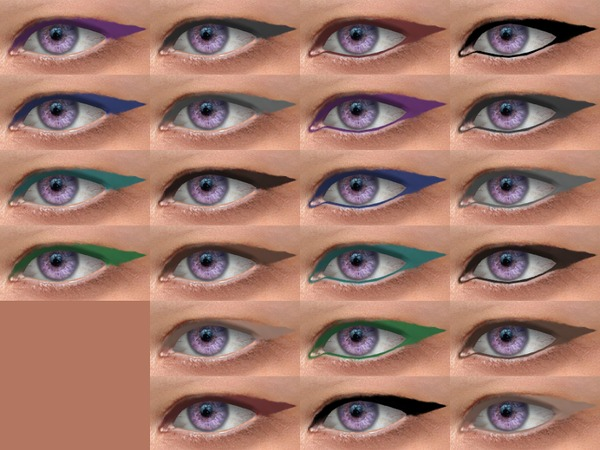 Spike Eyeliner 08 HQ by Alf si at TSR image 780 Sims 4 Updates