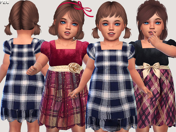 Sims 4 Winter Holidays Dresses Collection by Pinkzombiecupcakes at TSR
