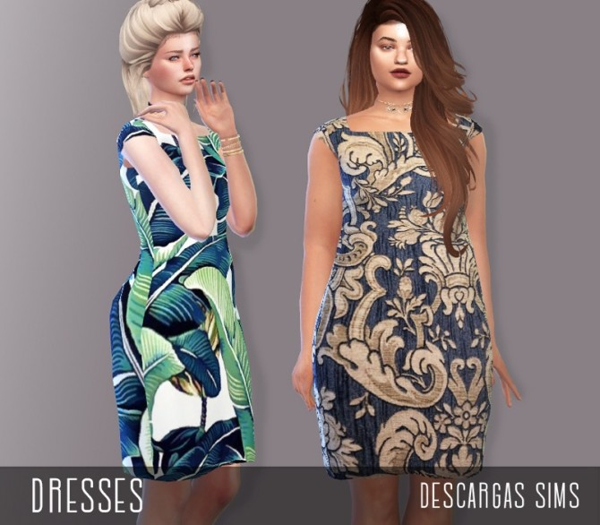 Sims 4 Dresses at Descargas Sims